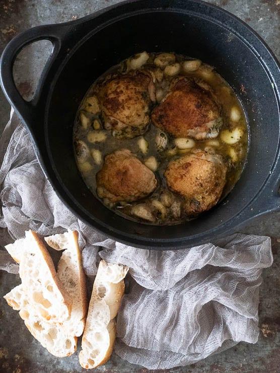 Kip met 40 tenen knoflook   Foodaholic.nl