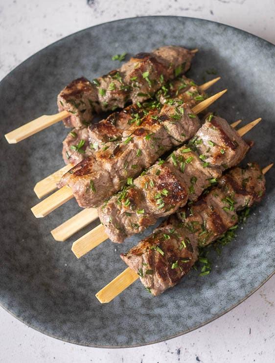 Biefstukspiesjes | Foodaholic.nl